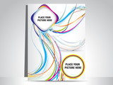 abstract flayer with colorful wave