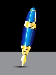 abstract glossy pen