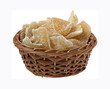 Dehydrated Ginger Root Slices in Basket