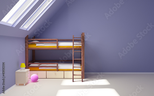 child room on attic