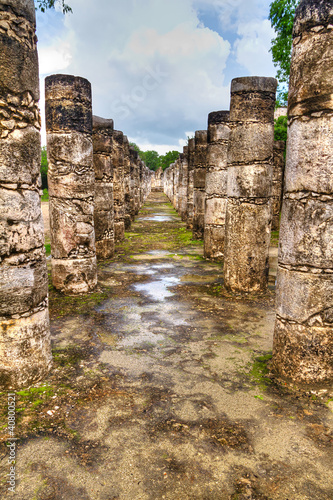 Temple of a Thousand Warriors in Chichen Itza, Mexico