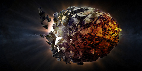 Abstract Illustration of Armageddon - Planet Earth Disaster