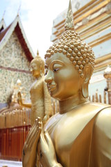 Golden Buddha in Wat Doi Suthep, Chiangmai, Thailand