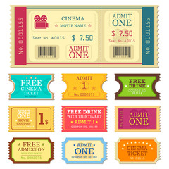 Set of Movie Ticket