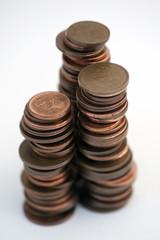 piles de monnaies