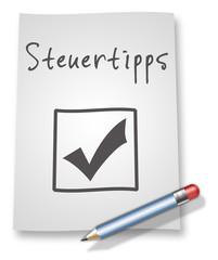 "Papier & Bleistift Illustration ""Steuertipps"""