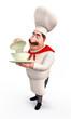 Happy Chef with big bowl