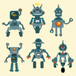 Cute little Robots Collection - in vector - set 1 - 40809594