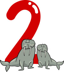 number two and 2 walruses