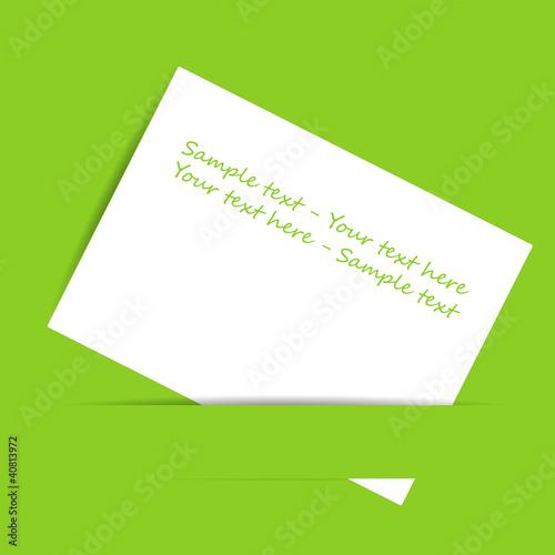 sample text - biglietto su sfondo verde