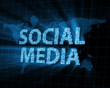 Abstract Background of Social Media with Glowing Rays