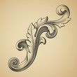 vector vintage Baroque pattern design element