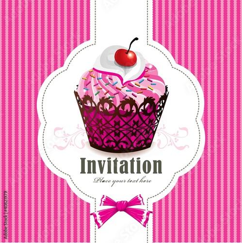 Cute cupcake design