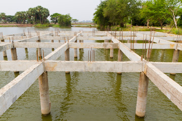 structure of building under water