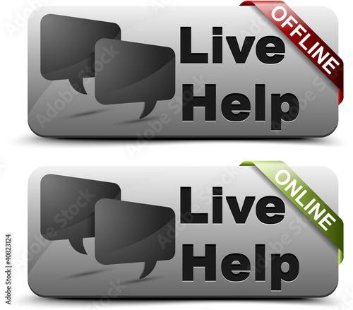 Live help button