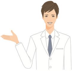 白衣を着た男性
