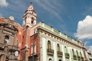Belen Church and Army museum  in the historic center of Puebla