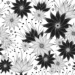 Repeating white-black floral pattern