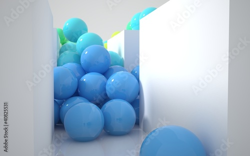 stream of colored balls