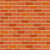 Seamless vector brick wall.