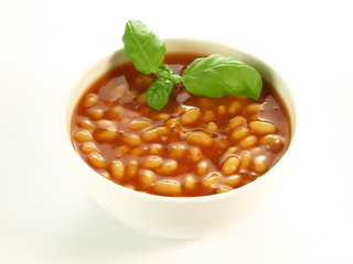 Baked beans, isolated