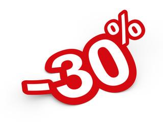 Percent sticker 3d render illustration