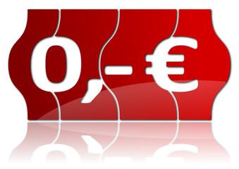 Preis rot Null Euro