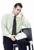 Attractive businessman on the phone