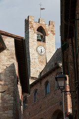 Suvereto, medieval Town Hall tower  - palazzo comunale, Tuscany