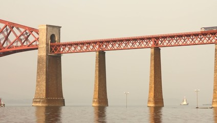 Train passing on the Forth bridge