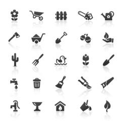 Black Garden Icons