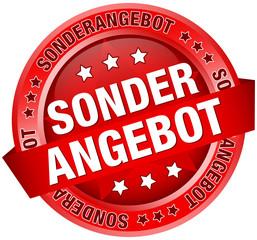 "Button Banner ""Sonderangebot"" rot"