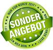 """Button Banner """"Sonderangebot - Nur für kurze Zeit!"""" grün"""