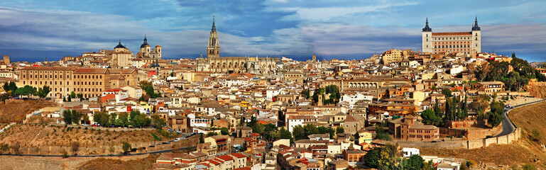 ancient cities of Spain - Toledo,  panoramic view