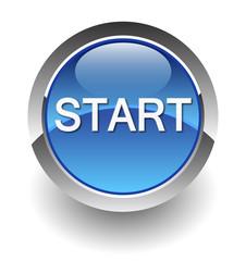 start blue button