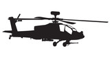 AH-64 Apache Longbow helicopter silhouette poster