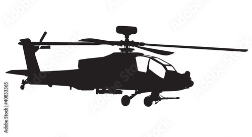 AH-64 Apache Longbow helicopter silhouette