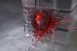 Glas-Quader Kugel Explo