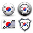 South Korea icons