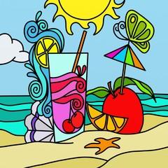 bibita sulla spiaggia