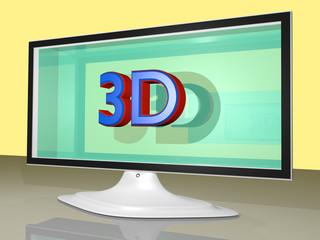 Fernsehapparat - 3D
