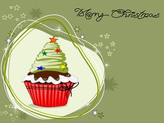 Weihnachten, Cupcakes, Muffin mit Sternen