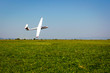 Glider flying on a blue sky - 40839721