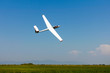 Glider flying on a blue sky - 40839760