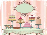 Fototapete Küchen - Cupcake - Nachtisch