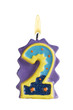 Geburtstagskerze Freisteller 2 Jahre