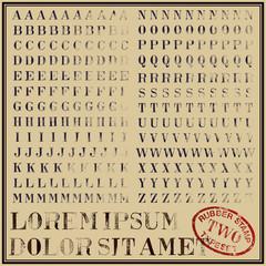 "Rubber stamp typeset 02 ""bodoni"""