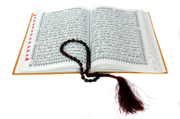 Al Quran and prayer beads
