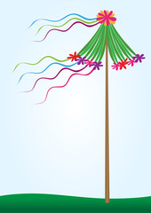 Spring maypole tradition