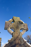 celtic headstone in Templemichael graveyard poster